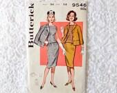 Vintage Butterick Suit Pattern 9546 Size 14 Bust 34