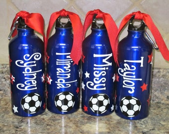 Personalized Aluminum Water Bottle-Soccer