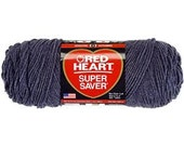 Red Heart Yarn Super Saver Acrylic Worsted Weight Yarn Charcoal Grey  7oz 364yds