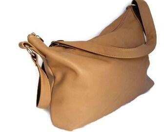 Camel Shoulder Crossbody Bag Purse, Fashion Leather Handbag, Trendy Women purses, Julia