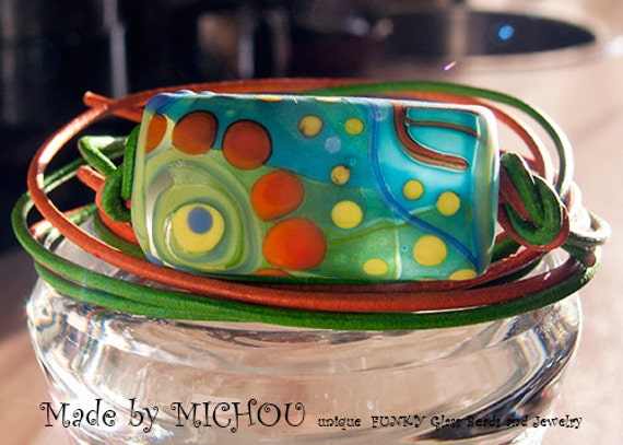 Art Glass Momokino Neclace Made By Michou Pascale Anderson