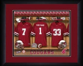 PERSONALIZED & FRAMED Officially Licensed Washington State Cougars Football Sports Print