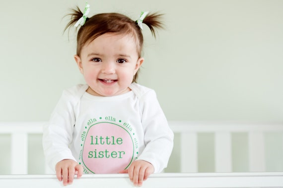 Onesie Personalized Little Sister Cousin Newborn Baby Girls High Quality Tee Infant One Piece