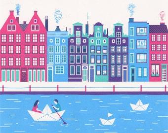 "Amsterdam, Limited Edition, 18"" x 14"""