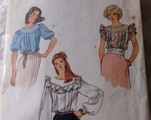 Vogue 8333 size 8 womans blouse carefully cut