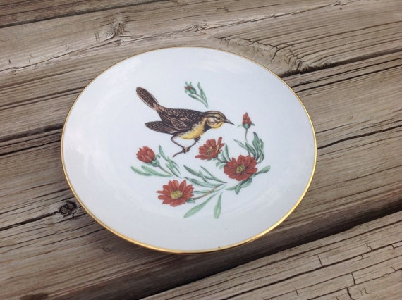 schumann arzberg germany bavaria collectable bird plate. Black Bedroom Furniture Sets. Home Design Ideas