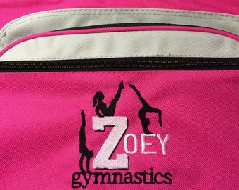 Gymnastics Monogrammed Personalized duffel for cheer, ballet, dance, gymnastics, color guard, etc