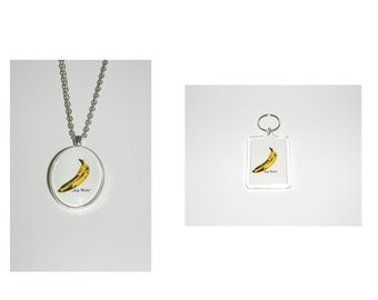 The Velvet Underground Andy Warhol banana Glass Pendant Necklace and/ or Keychain