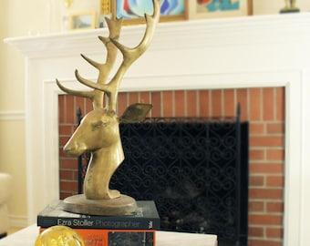 Vintage Stag Deer Head  Sculpture