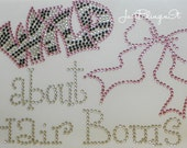 Wild about Hair Bows Hot Fix Iron On Rhinestone Transfer Bling