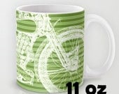 GREEN MUG Brough Superior | a great gift for men | Unique coffee mugs green