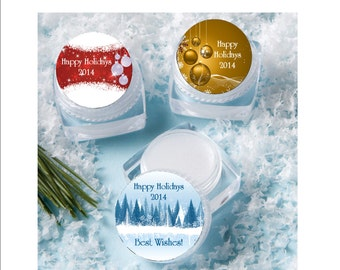 Lip Balm Winter, Corporate Gift Favor - personalized- winter theme event, stocking stuffer, corporate gift, office gift, set of 12