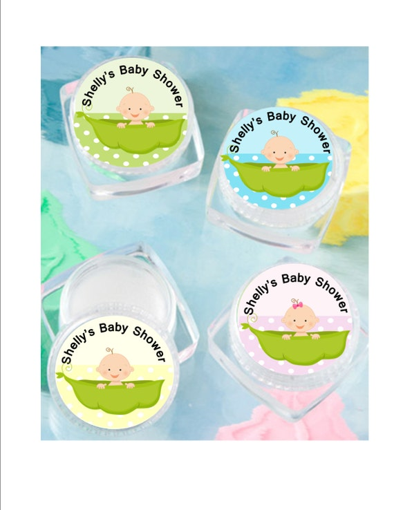 lip balm baby shower favor personalized pea in a pod shower favor