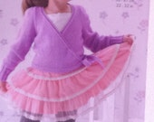 "3712 Ballet Crossover cardigan and Leg Warmers knitting pattern, King Cole, Double knitting wool, 22-32"" (56-81"") Long or short sleeves."