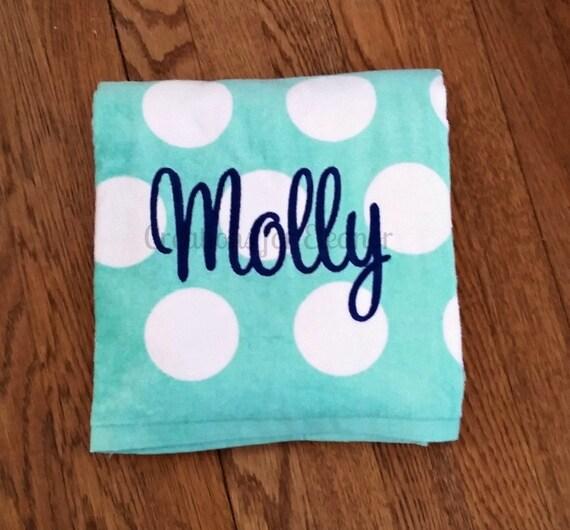 Monogram Beach Towel Beach Towel Monogrammed Towel