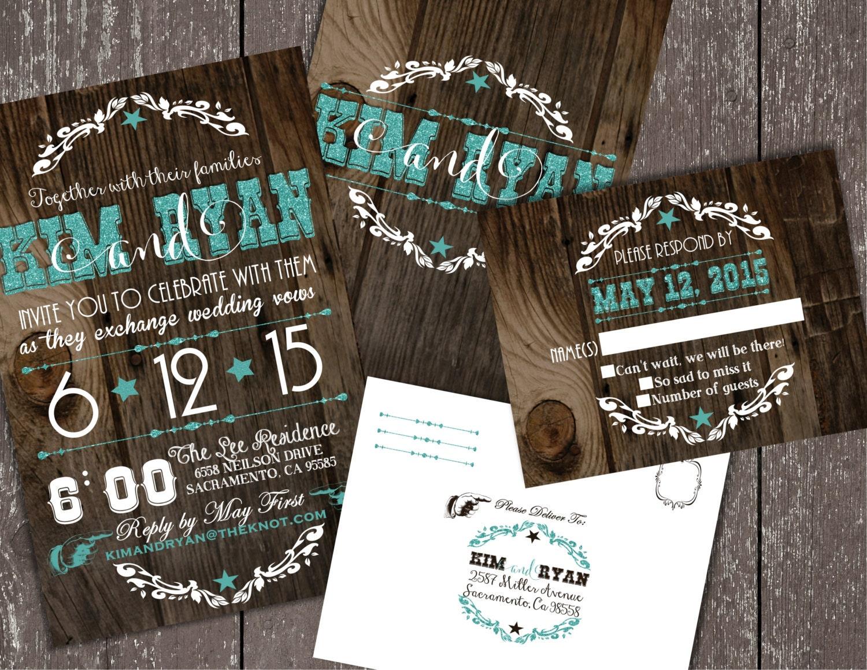 Up Themed Wedding Invitations: Wedding Invitations Western Wedding Invitations Cowboy