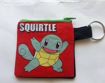 PokeMon Squirtle Coin Pouch Change Purse Keychain