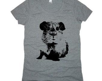 Guinea Pig Womens Tri Blend T Shirt