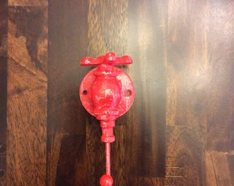 Sweet Shut Off Valve single hook in RED distressed.