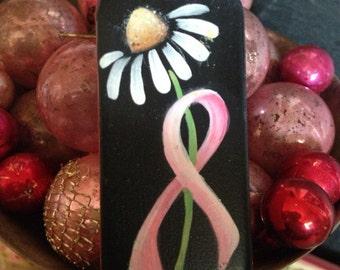 Handpainted pinkribbon pin
