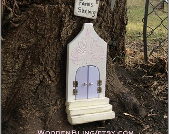 Fairy Garden, Fairy door, Unique, Purple Fairy Door, Opening, Doors, Birthday, Girls, Princess, Mothers Day, Specialty gifts, One of a Kind.