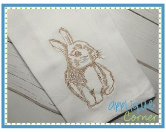 INSTANT DOWNLOAD 2095 Bunny 3 Embroidery Design applique design in digital format for embroidery machine by Applique Corner