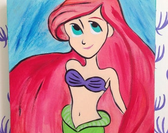 Ariel Illustration on Wood