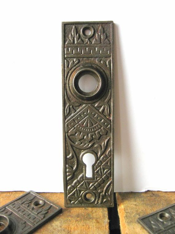 Antique Door Knob Backplate Eastlake Branford Lock Works