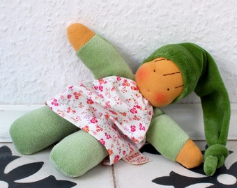 Gerda, waldorf inspired doll, cuddle doll, Babies first friend, natural toy