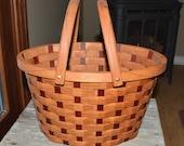 Large harvest basket Cherry And Purple Heart wood