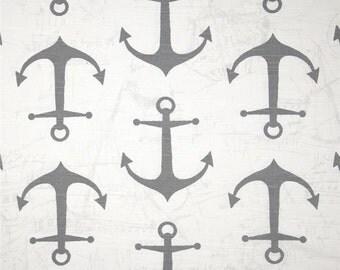 Sale!!!!! Nursing Pillow slipcover, ,  Anchor Grey, hite Minky