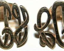Elegant Vintage Anson KaratClad Gold Filled Cuff Links Antique Cuff Links Monogrammed
