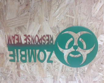 Zombie  sign  can be personalized walking dead zombie response