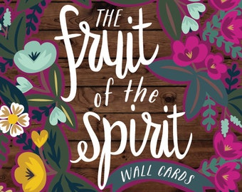 The Fruit of the Spirit 5x7 Wall Cards