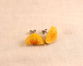 Grilled Cheese Post Earrings Polymer Clay