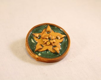 House Tyrell Rose Pin Polymer Clay Nerd Jewelry
