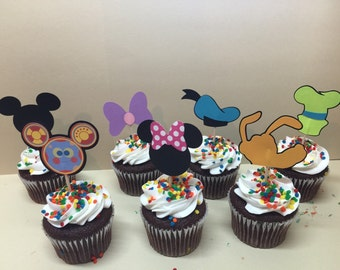 Mickey Mouse Clubhouse cupcake toppers, set of 7