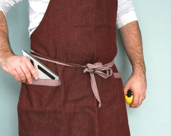SALE * Mens apron, workman's apron, wood working apron, large apron
