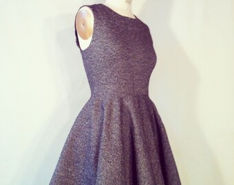 Classic Fit and Flare Tweed Dress