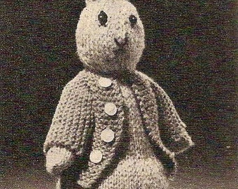 1955 Vintage Peter Rabbit Toy Knitting Pattern