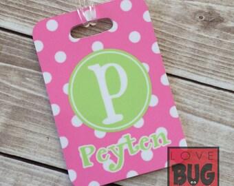 Polka dot luggage/bag tag