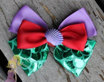 Ariel Hair bow The Little Mermaid hair bow Ariel hair clip mermaid scales disney hair bow