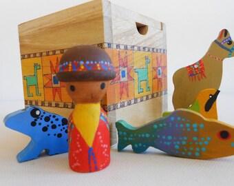 South America wood learning toy geography social studies art science waldorf montessori pretend set homeschool