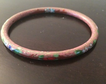 Painted Flower Bangle