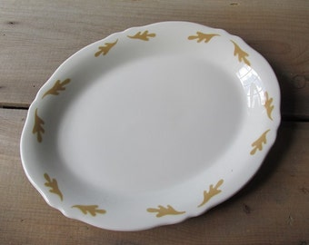 Vintage Diner Platter Oakleaf Pattern Interpace Mayer China