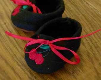 Waldorf Doll Shoes - Cherries