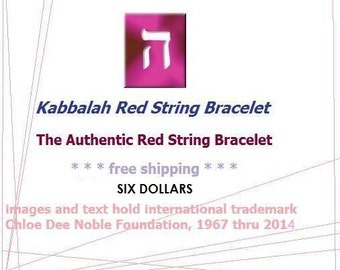 Bracciale in cordino rosso Kaballah, Santo amuleto