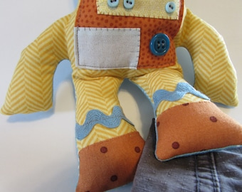 CUSTOM Stuffed robot toy plush, scrappy, ... just how you want it