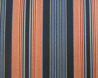 OUTDOOR Pillow Cover in a Navy & Red Stripe Print