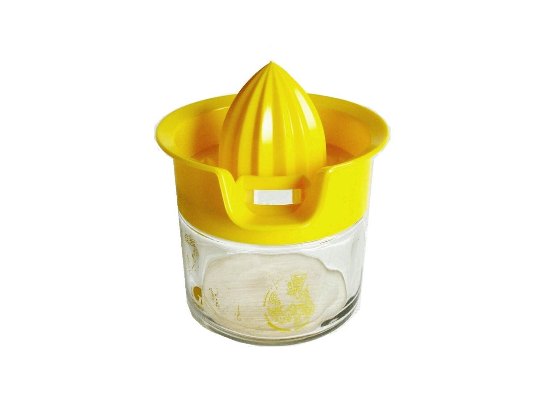 Glass Citrus Juicer Electric ~ Vintage gemco glass bottom hand citrus juicer